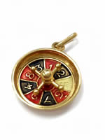 9ct Gold Roulette Wheel Charm